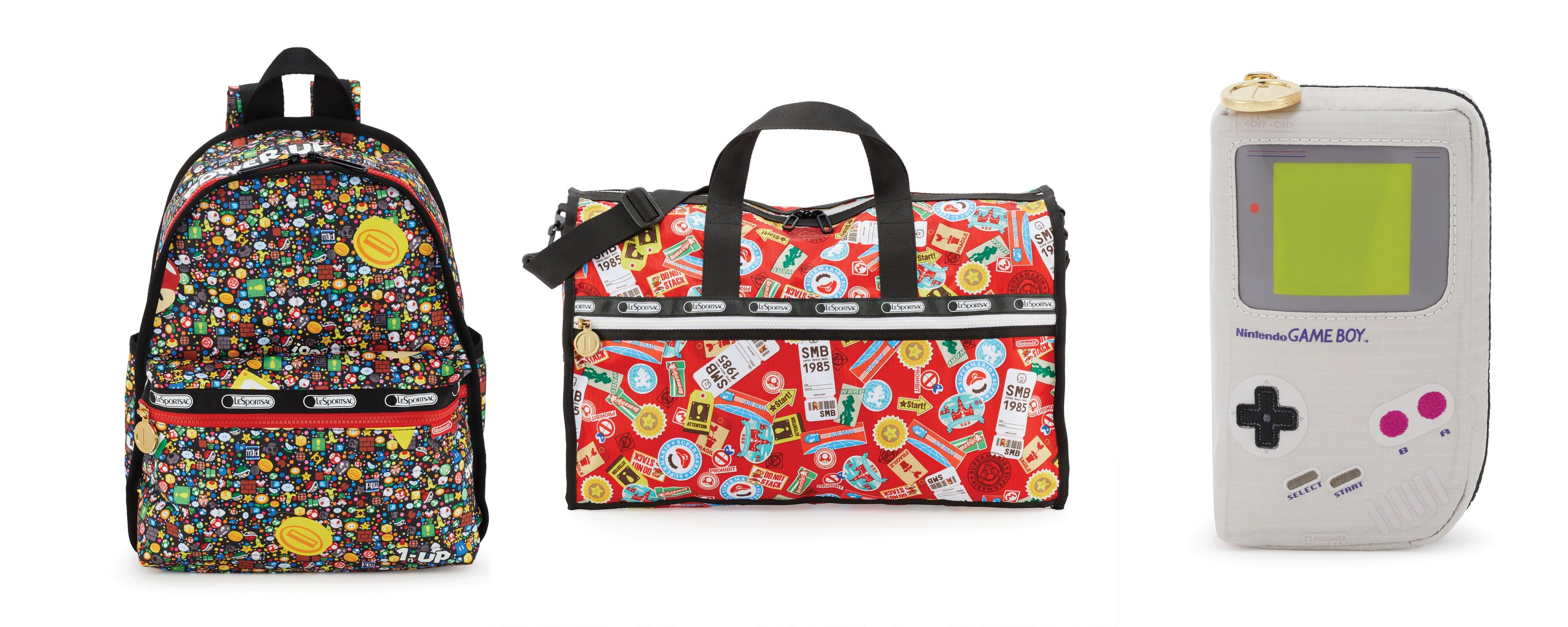 Here are some loud Nintendo bags from LeSportsac screenshot