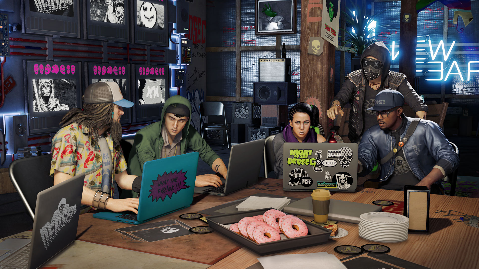 Watch Dogs 2 is getting a four-player Party mode next week screenshot