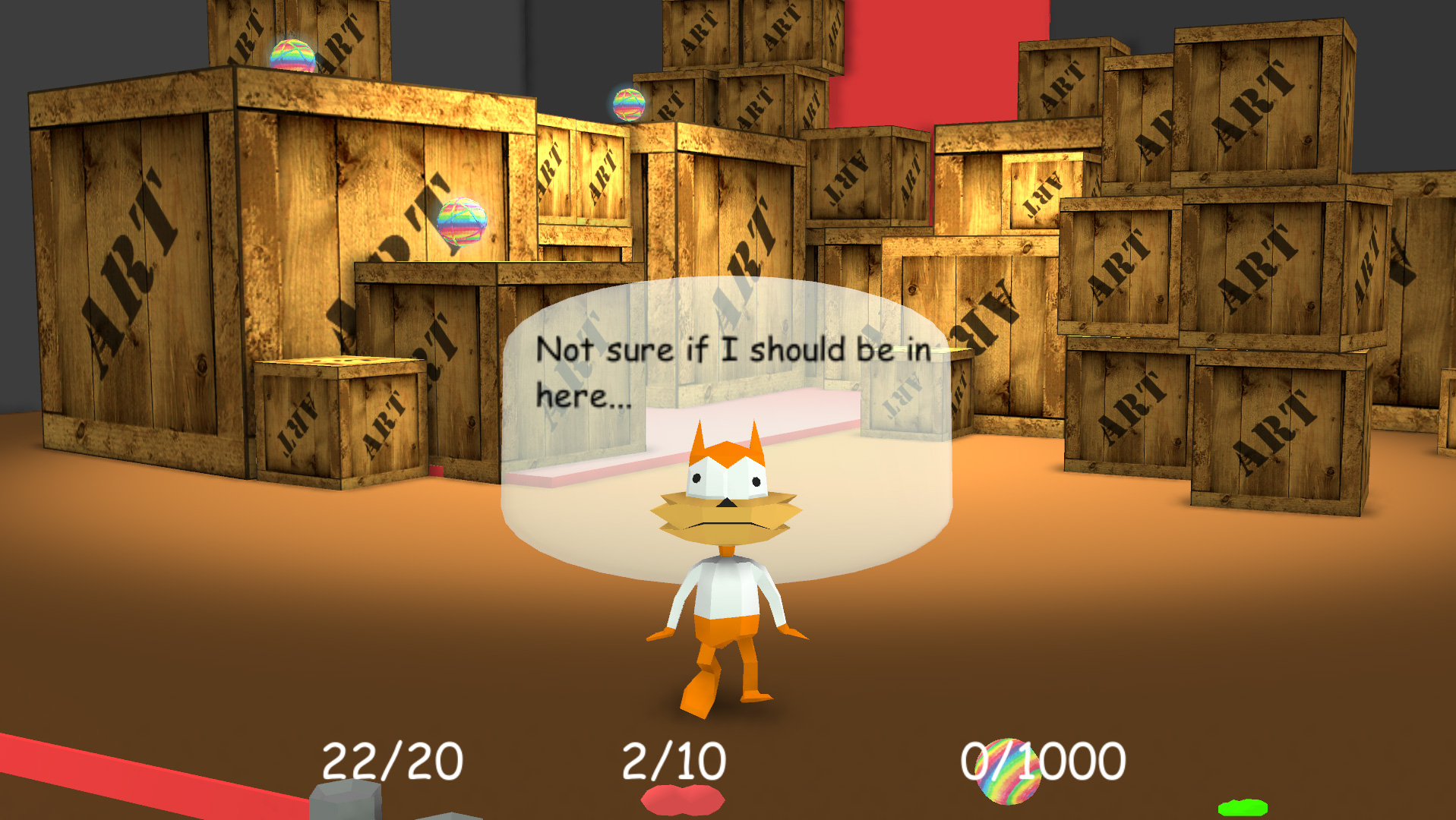 Descend into madness with Arcane Kids' newly remastered Bubsy 3D screenshot