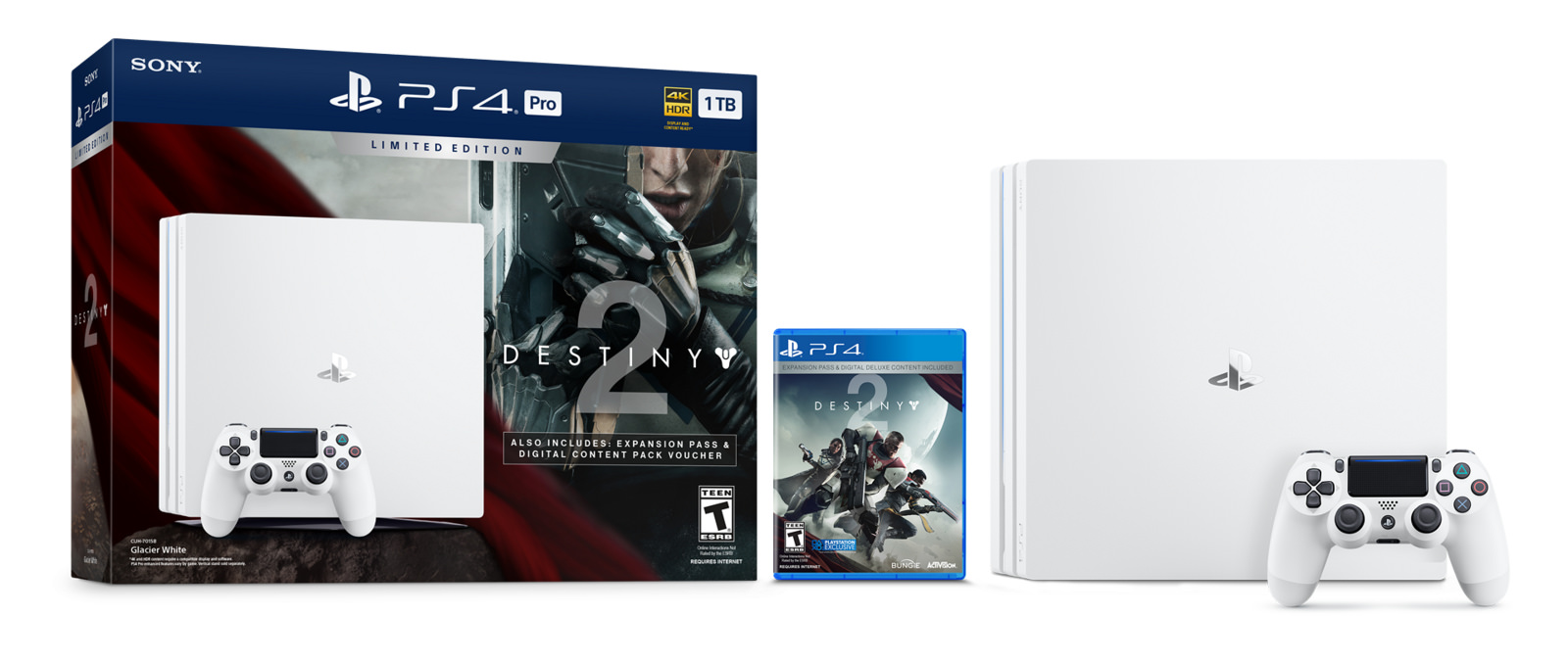 There's a white PS4 Pro, but it's exclusive to the Destiny 2 bundle screenshot