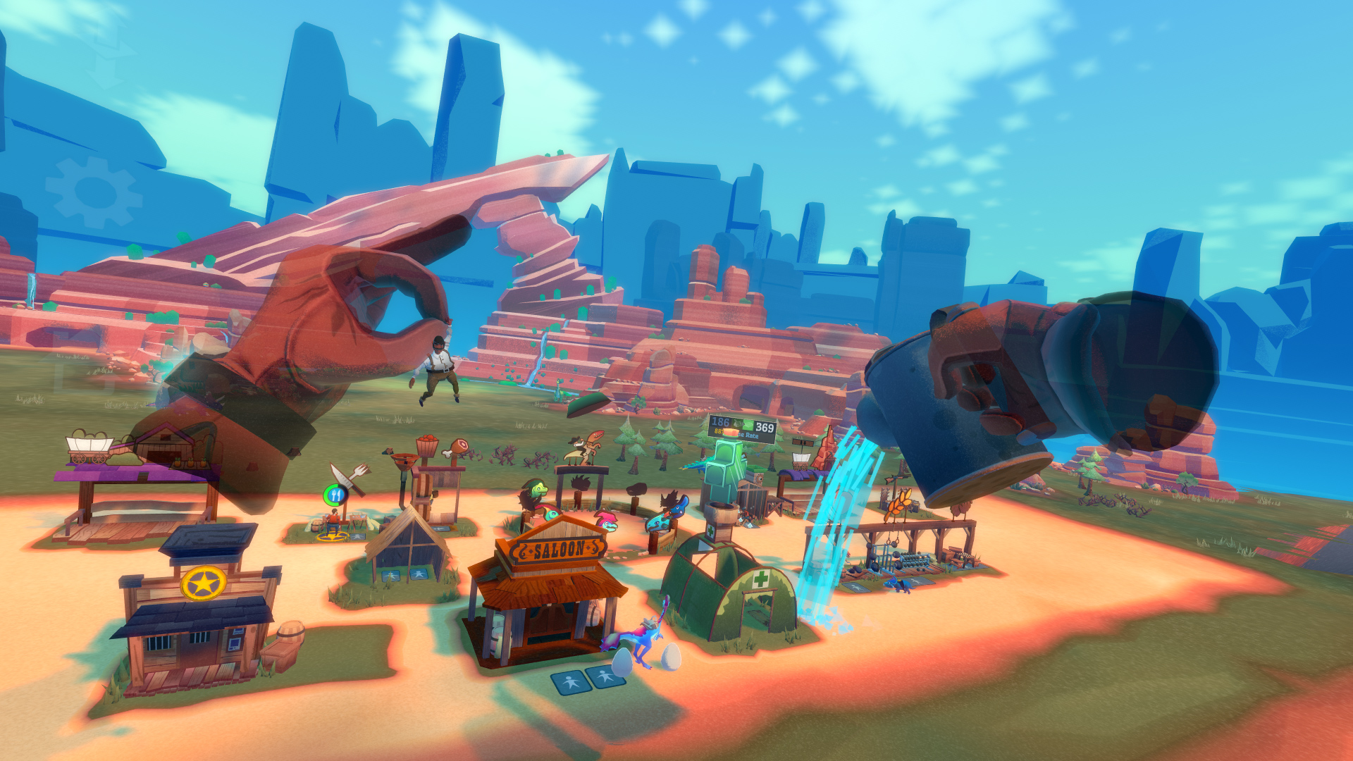 Wild West settlement builder Dino Frontier is out August 1 screenshot