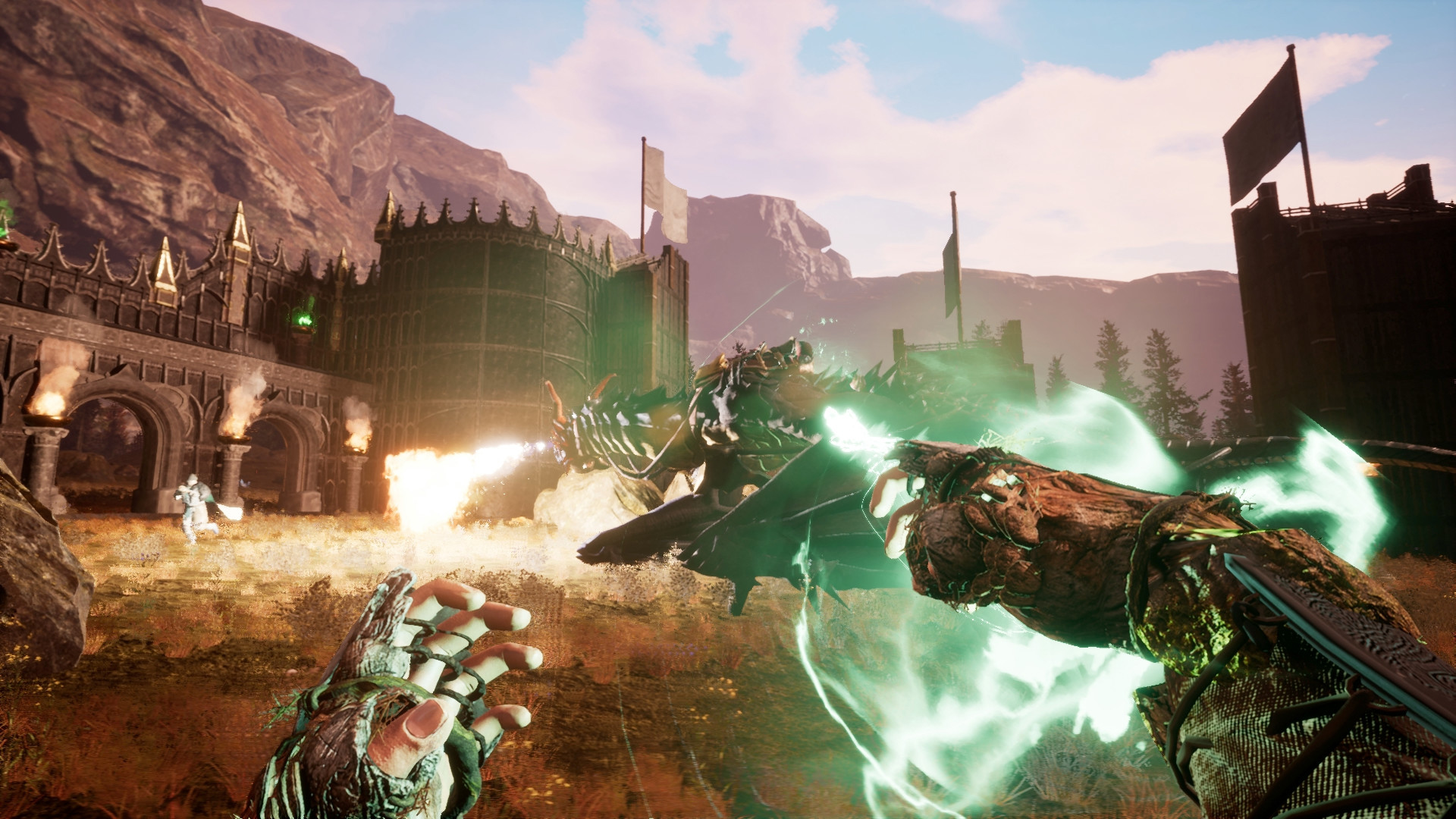 Online sandbox RPG Citadel lets you fly on a broomstick and cast spells with friends screenshot