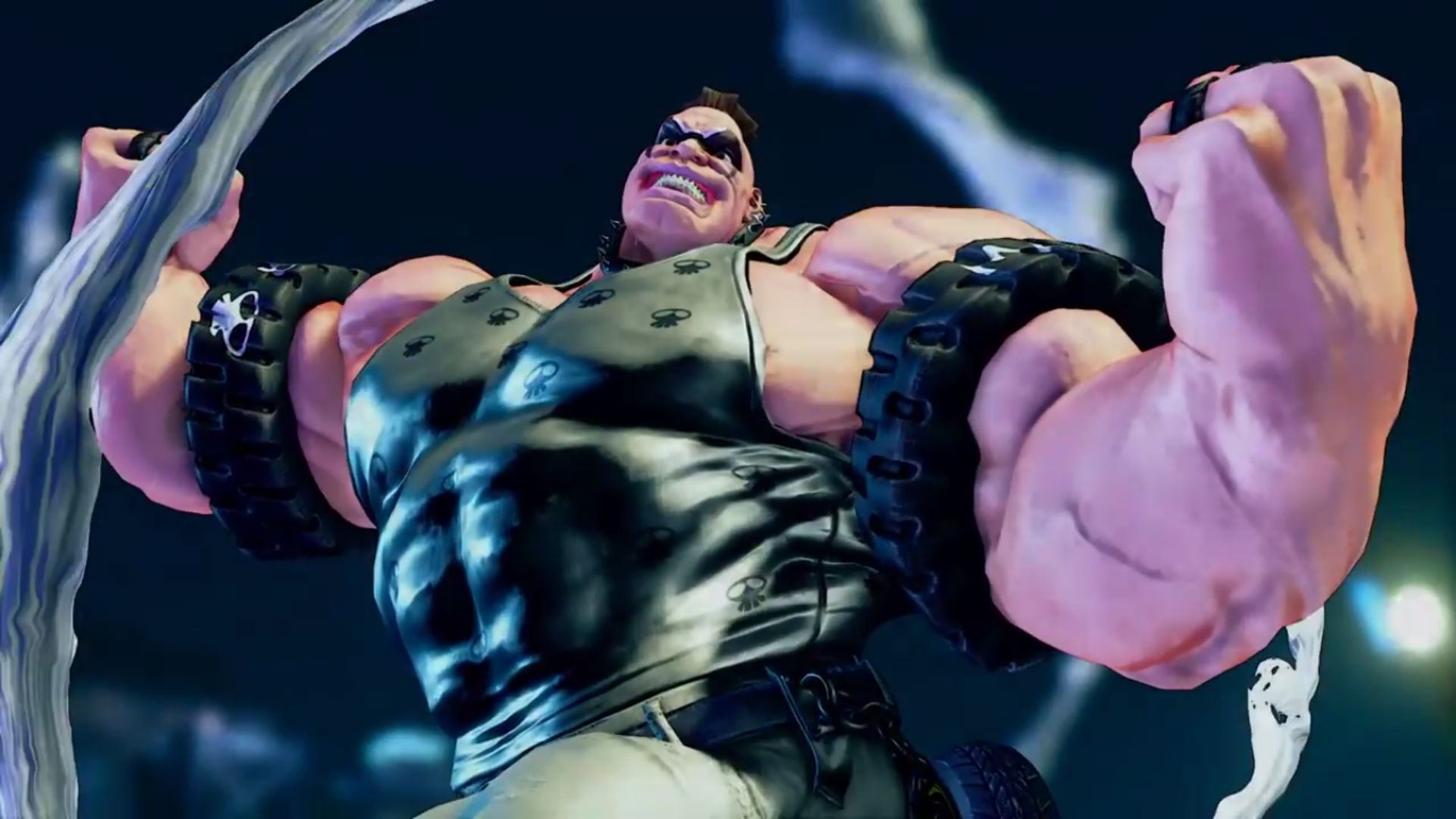 Abigail and his freaky muscles coming to Street Fighter V July 25 screenshot