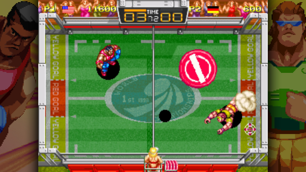 August is a busy gaming month, but I'll make room for Windjammers screenshot