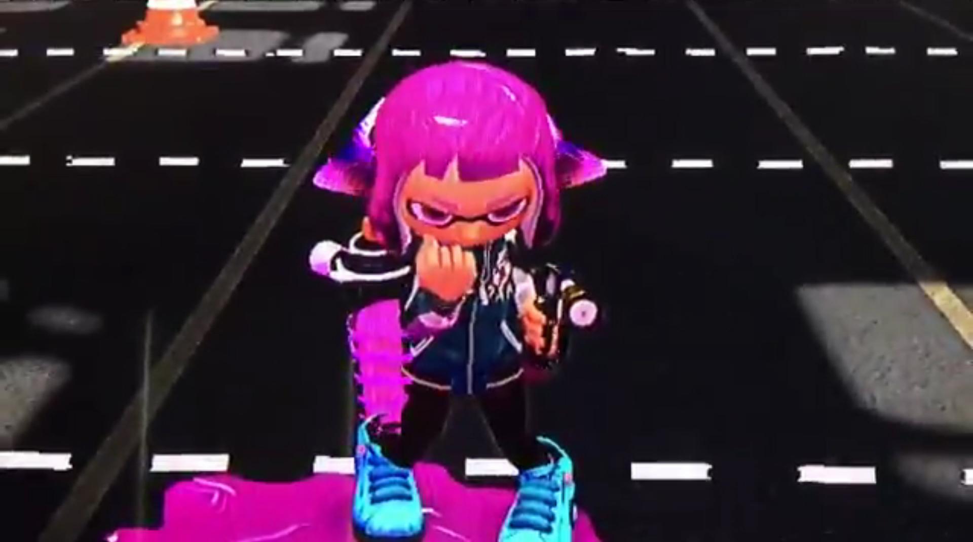 You can do a cute lil fist pump in Splatoon 2 screenshot