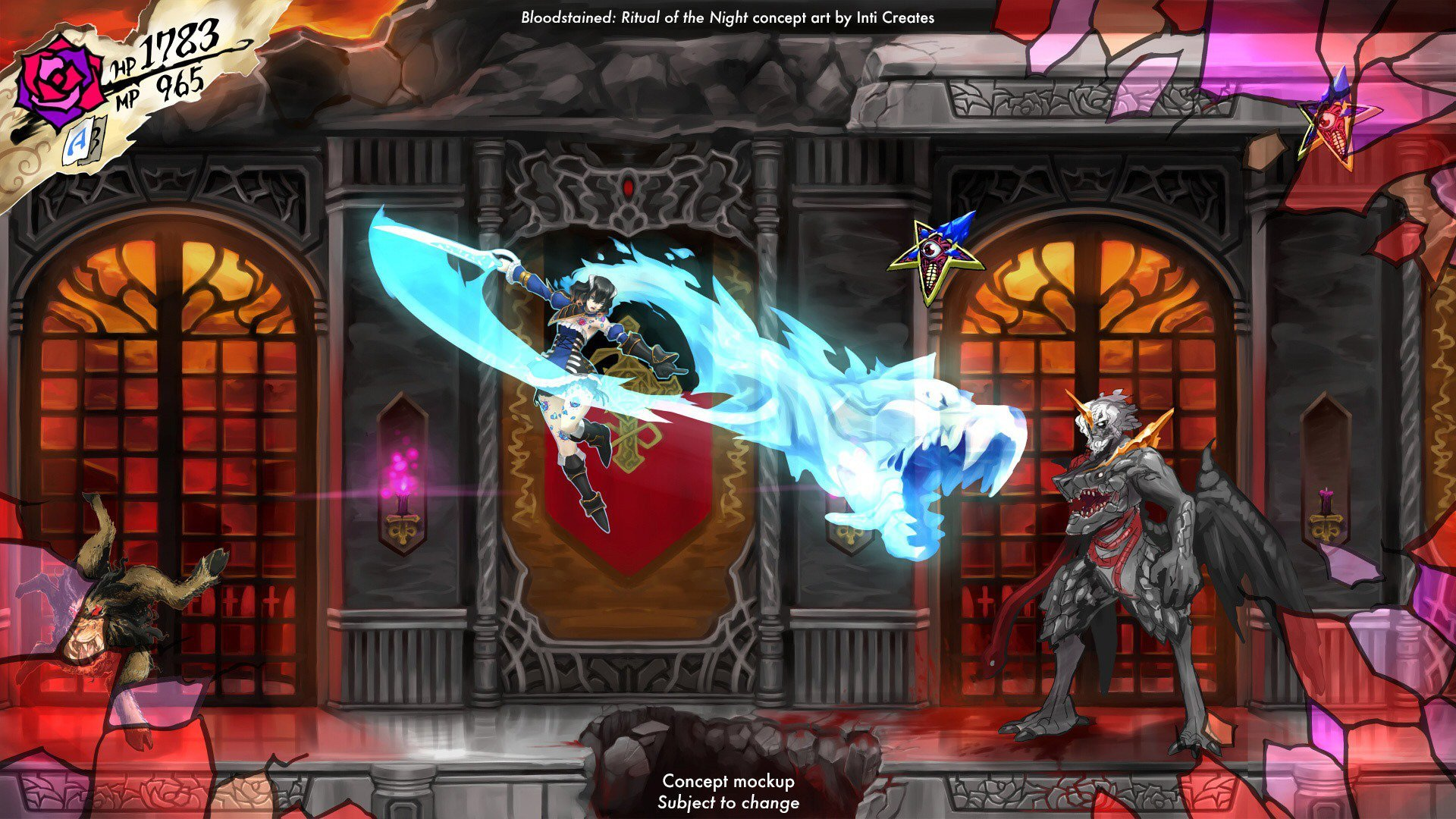 Inti Creates is no longer working on Bloodstained: Ritual of the Night's main game screenshot