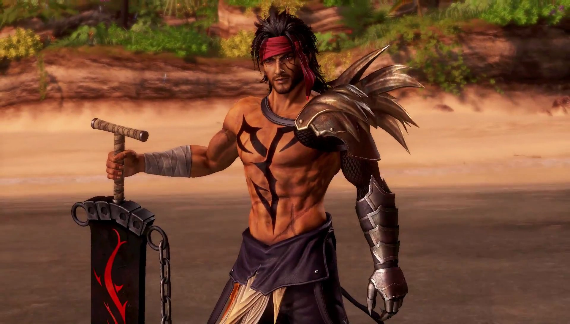 Jecht beats his son in his Dissidia NT reveal trailer screenshot