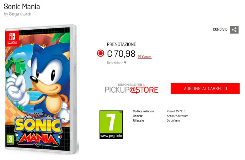Sonic Mania might get a standalone physical release after all screenshot