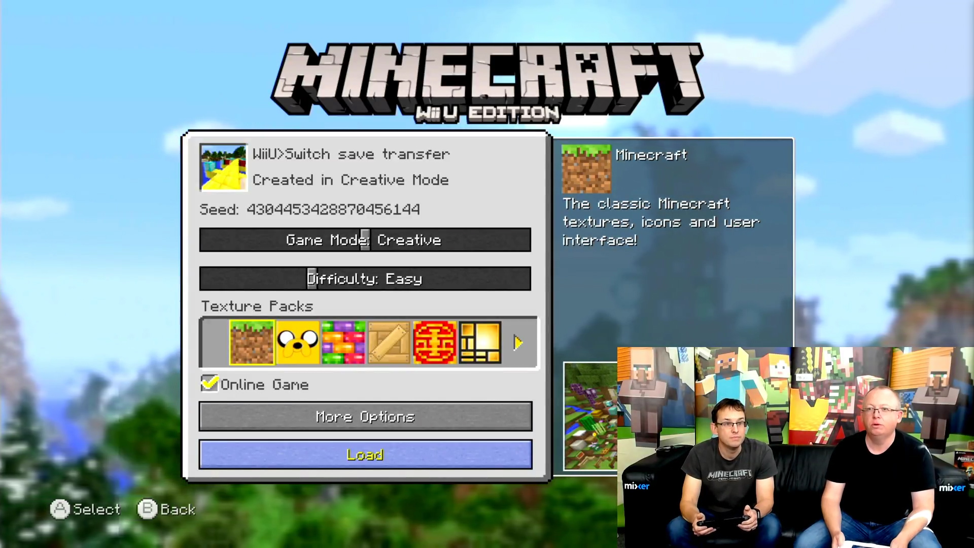 Minecraft will soon let you transfer saves from Wii U to Switch screenshot
