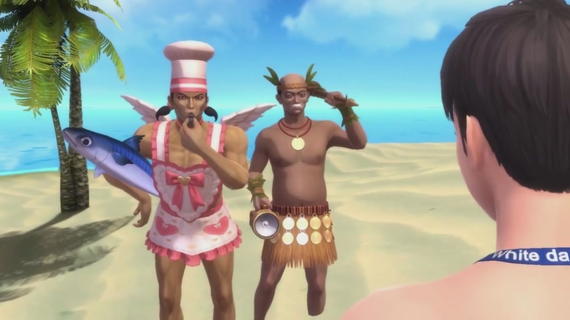 White Day's Beachwear trailer is completely ridiculous and not at all related to the game screenshot