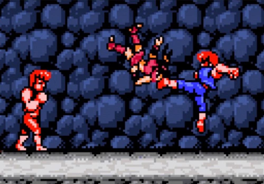 Double Dragon IV jumpkicking onto Nintendo Switch screenshot