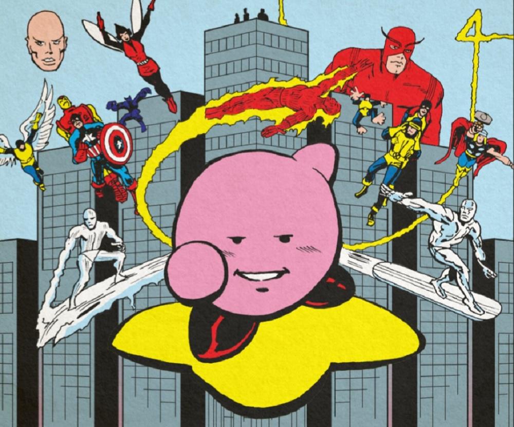 Kirby meets Jack Kirby in celebratory comic strip screenshot