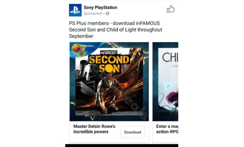 InFamous: Second Son is a Free PlayStation Plus Game for September 2017