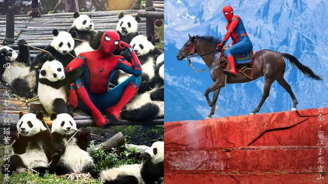 These Chinese posters for Spider-Man: Homecoming are absolutely delightful screenshot