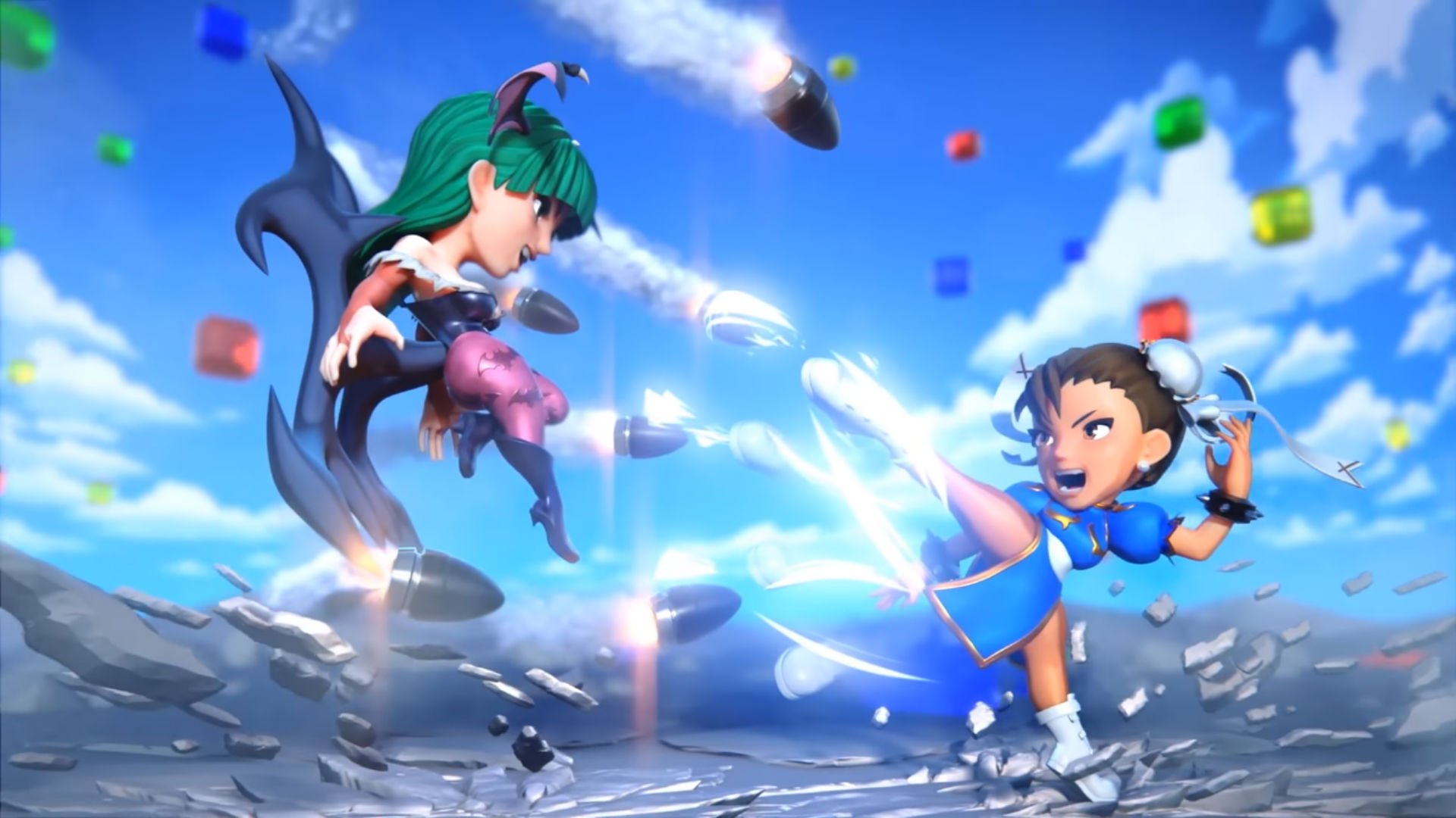 Puzzle Fighter is back...in mobile form screenshot