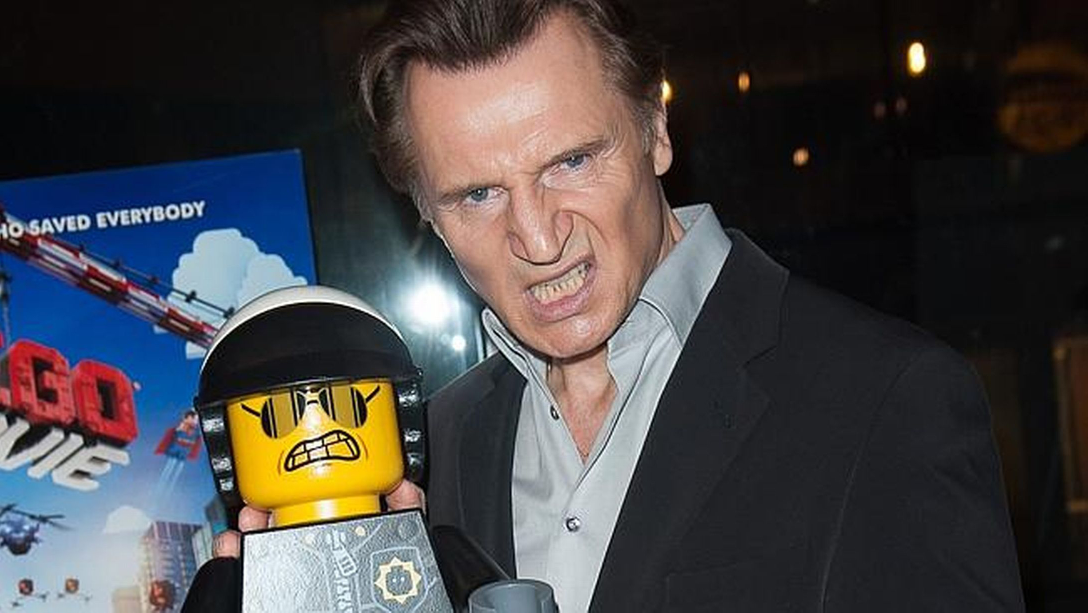 Liam Neeson's old AF: trades in certain set of skills for Depends screenshot