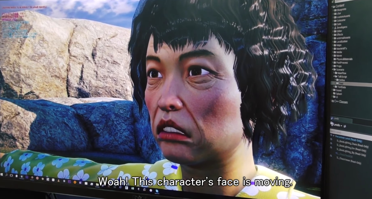 Shenmue 3 characters can move their face now screenshot