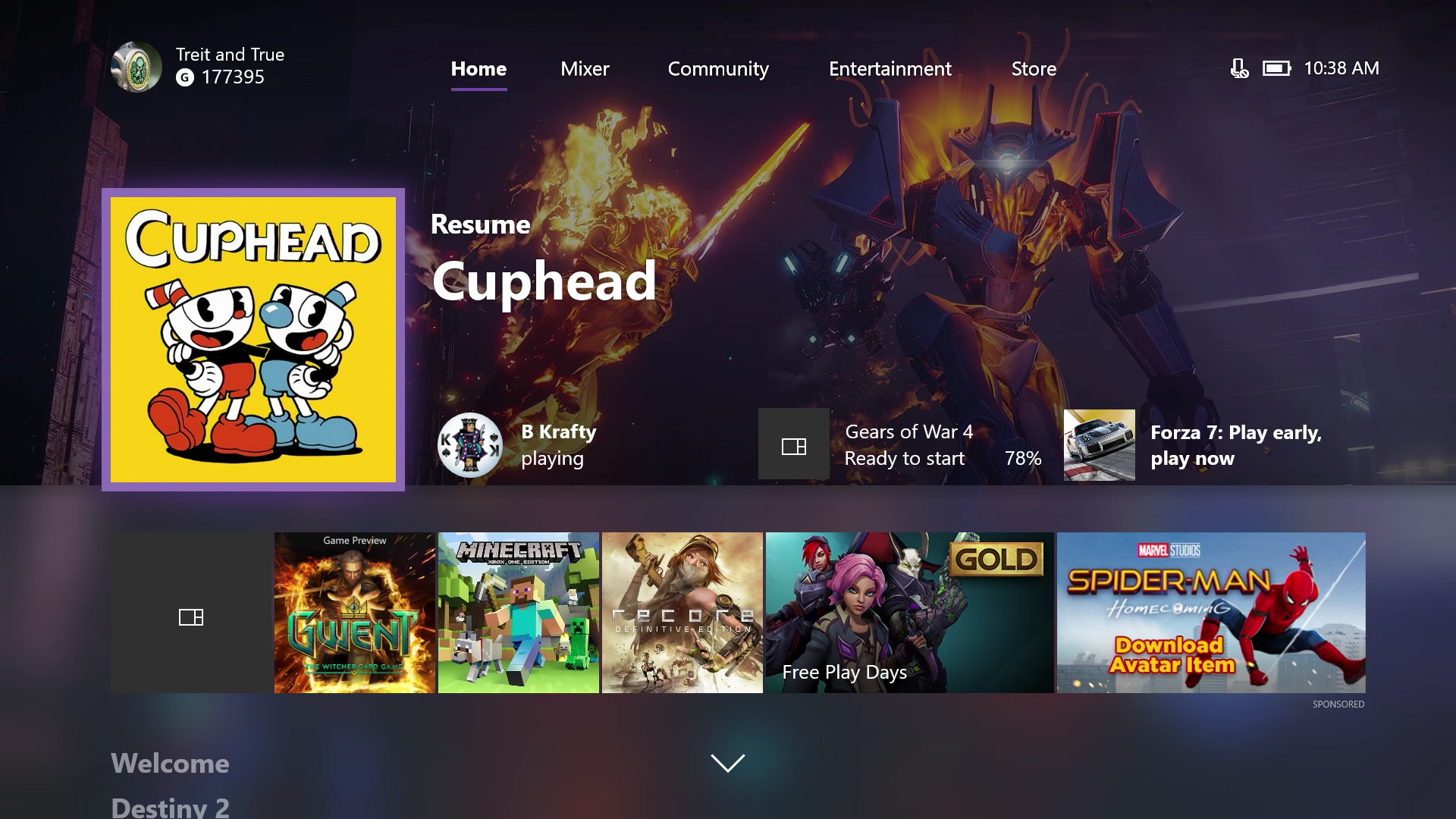 Look for a new Home and Guide in today's big Xbox One update screenshot