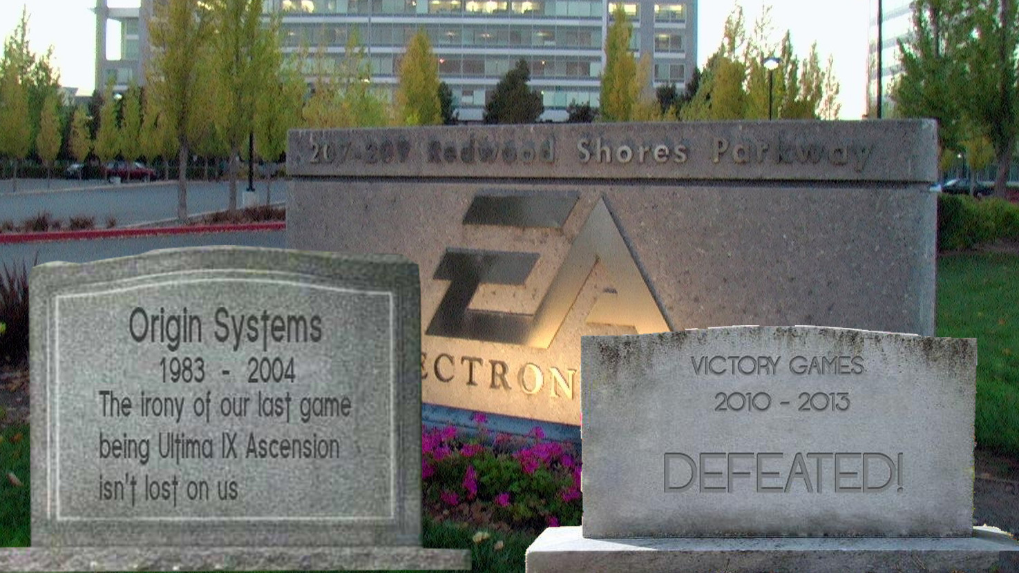 EA Celebrates Halloween By Decorating Offices With Tombstones Of Developers It's Eliminated (Fauxclusive)