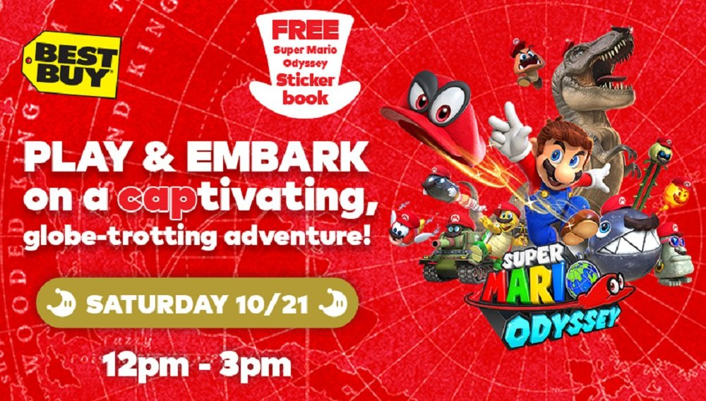 Select Best Buy Stores Will Be Holding A Super Mario Odyssey Event On October 21