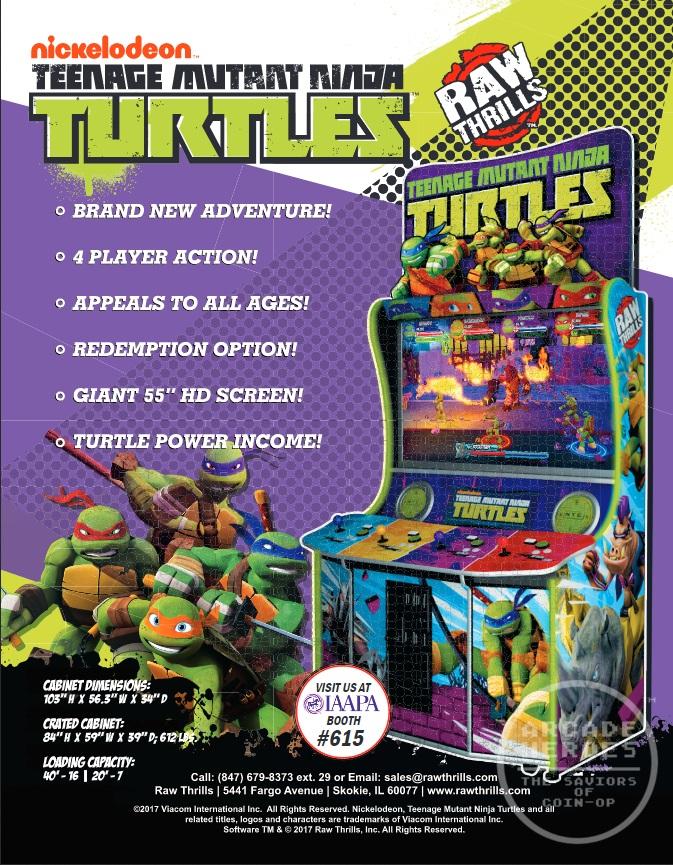 New Teenage Mutant Ninja Turtles arcade machine coming soon