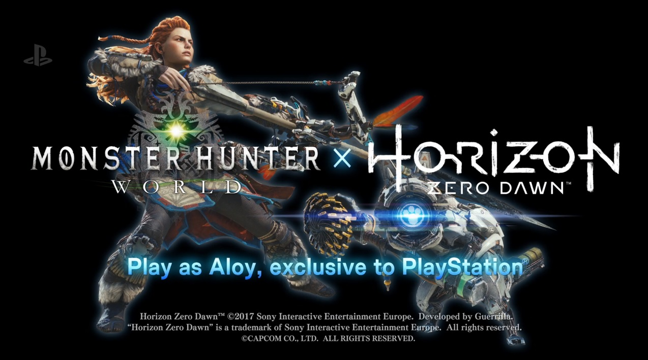 Monster Hunter World players on PS4 can play as Horizon Zero Dawn's protagonist screenshot