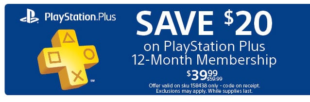 Score $20 off PlayStation Plus 12-month digital code