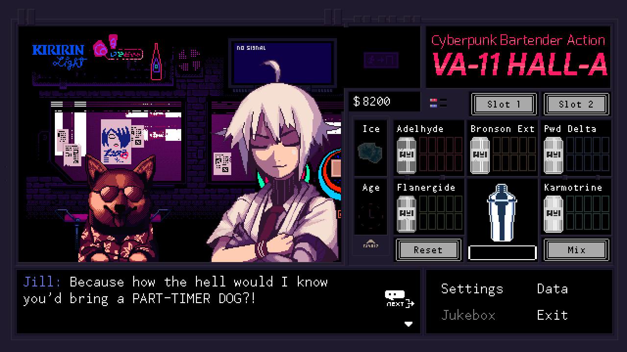 VA-11 HALL-A is out for PlayStation Vita next week screenshot