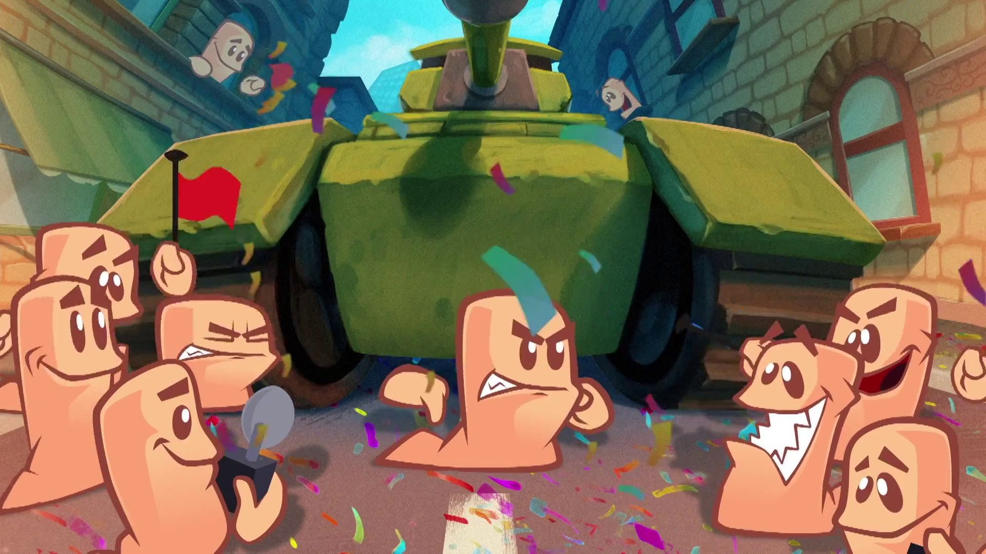 Worms WMD will be carpet bombing on the Switch next week screenshot