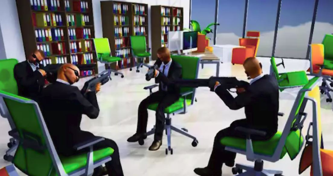 Office chair battle royale game Last Man Sitting looks dope screenshot