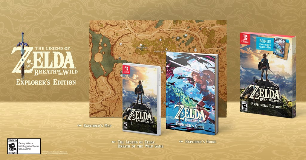 Official Zelda: Breath of the Wild 'Explorer's Edition' is out this week screenshot