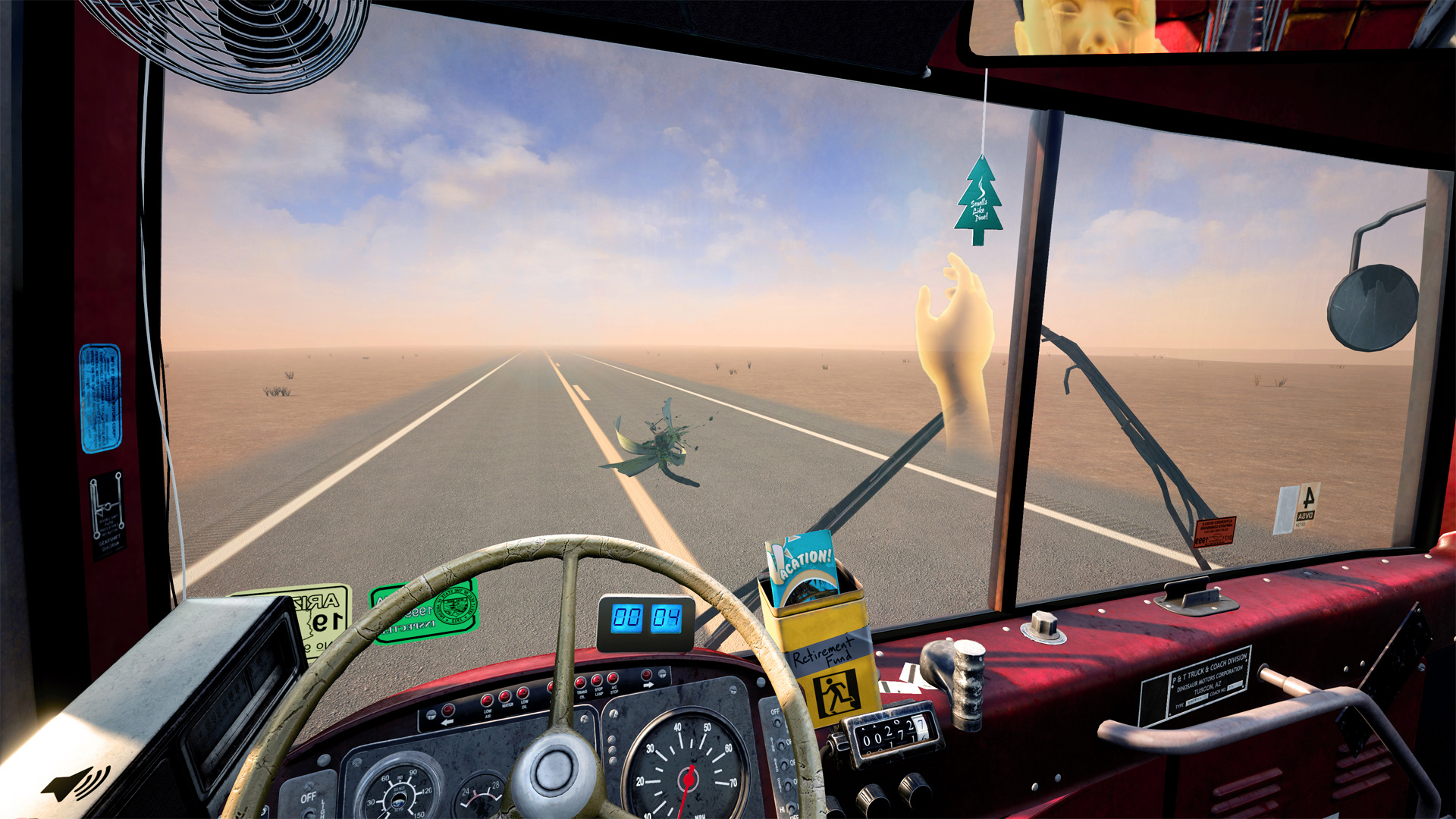 Infamous driving sim Desert Bus now playable in VR screenshot