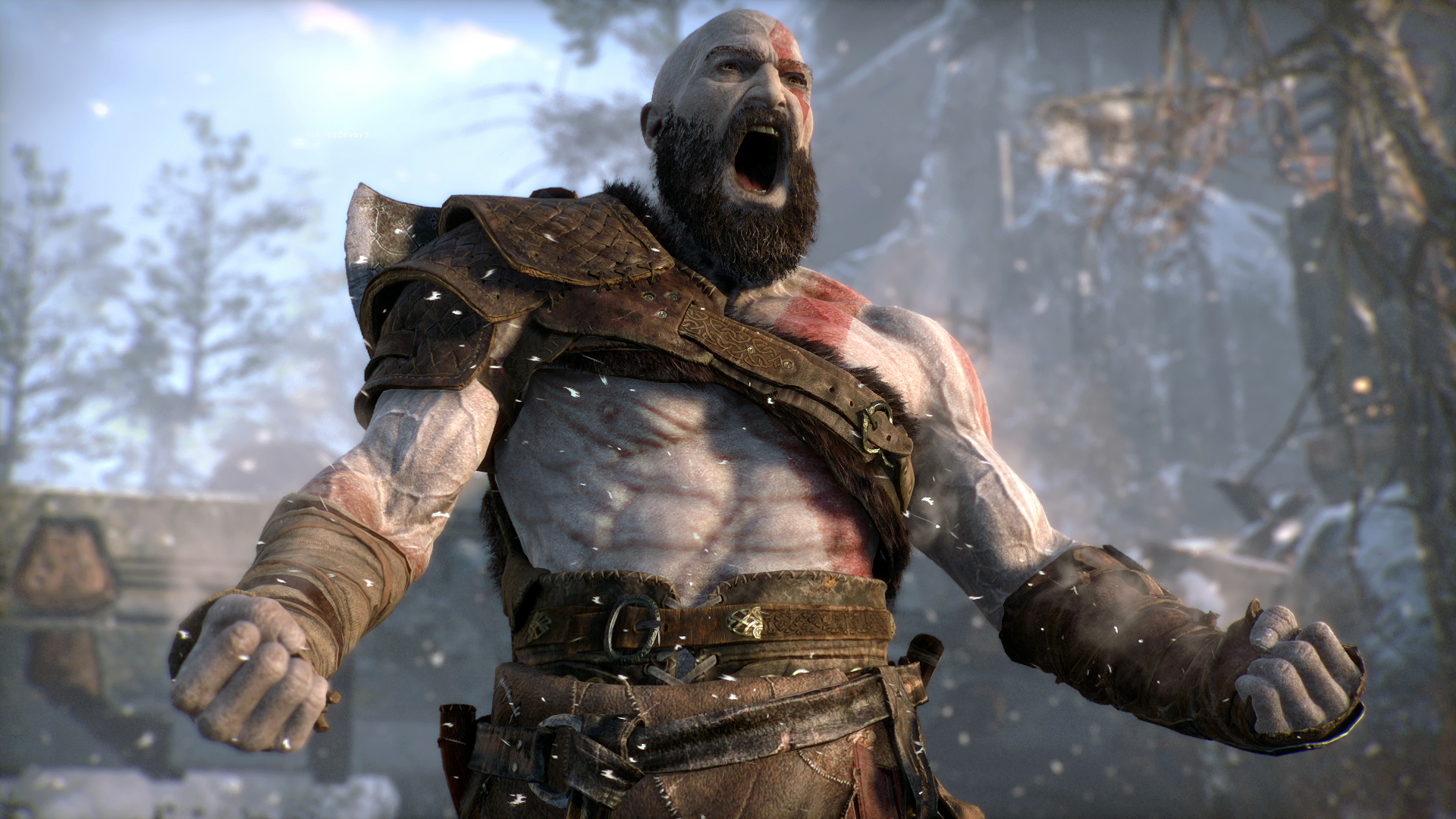 The God of War reboot may have had its release date revealed early screenshot