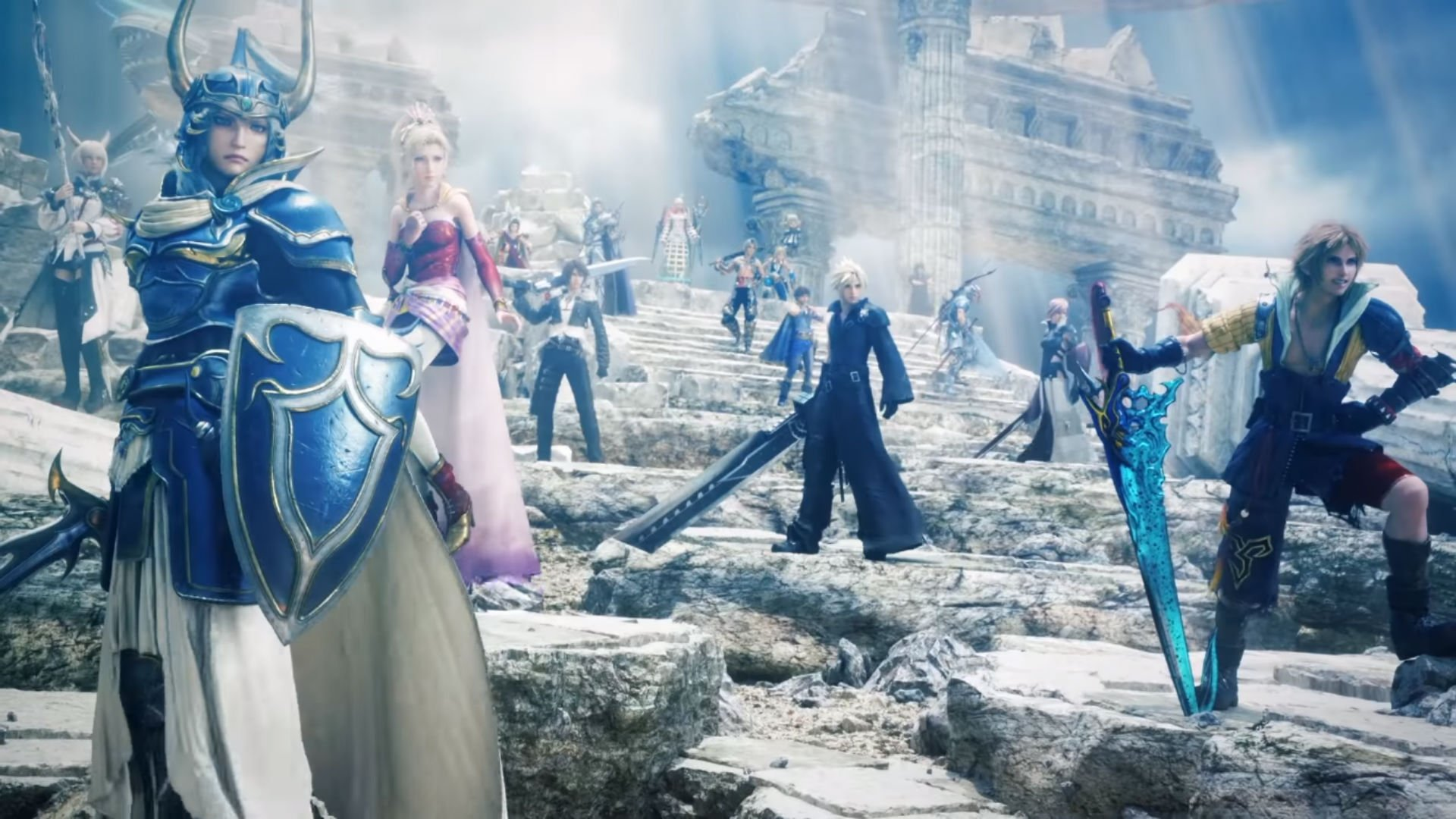 Check out Dissidia Final Fantasy NT's opening cutscene screenshot
