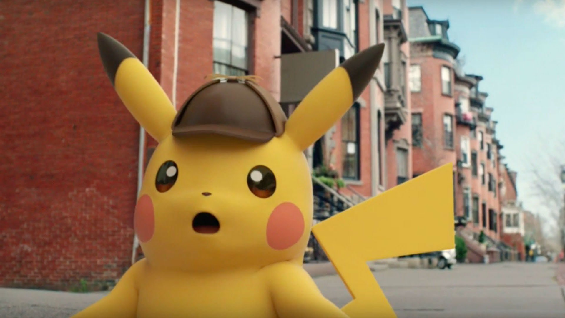 Ryan Reynolds cast as Pikachu in Detective Pikachu movie screenshot