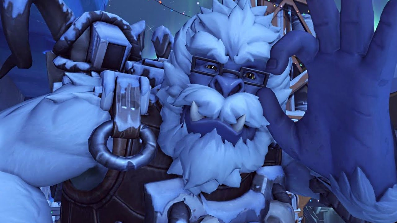 Overwatch's holiday event has a five-on-one Yeti boss fight mode screenshot