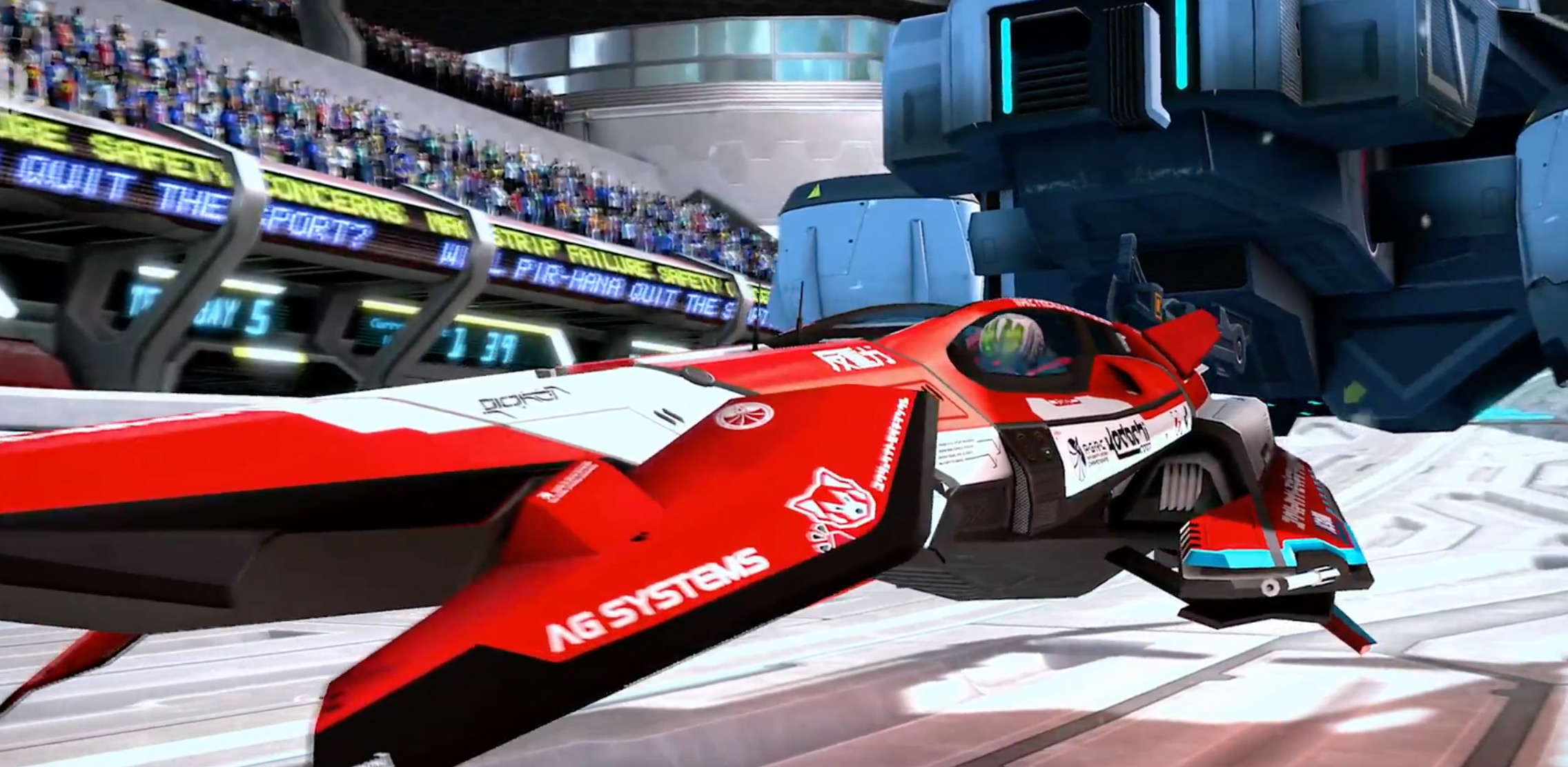 WipEout on PS4 is getting a PSVR patch screenshot