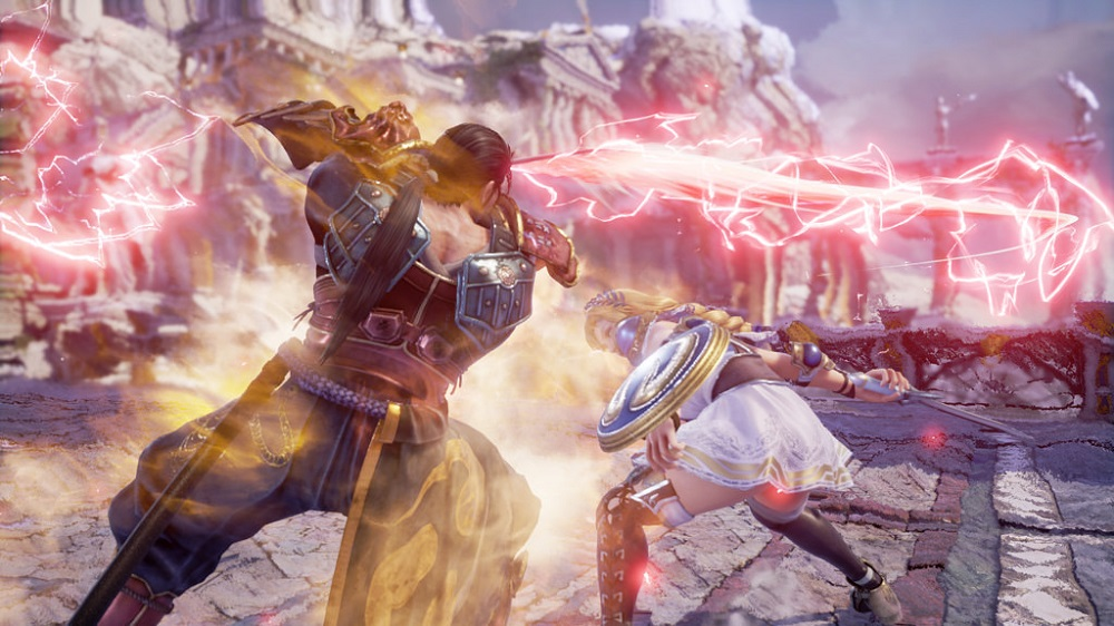 Soulcalibur VI gameplay footage features in producer interview  screenshot