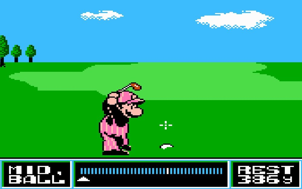 NES Golf 'tribute' removed from Nintendo Switch firmware screenshot