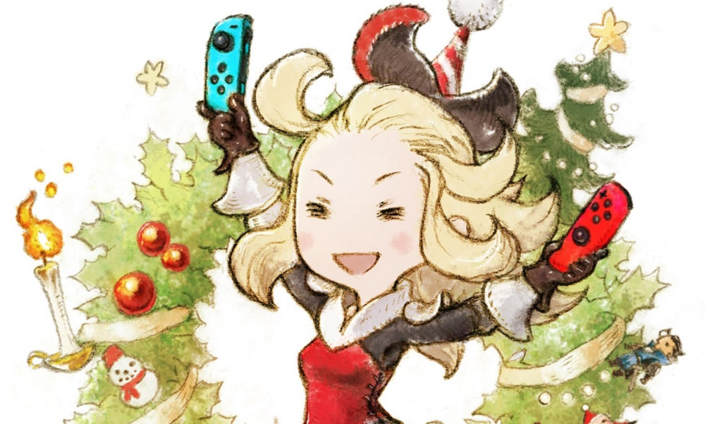 Bravely Default wishes you a 'Happy Merry Christmas' screenshot