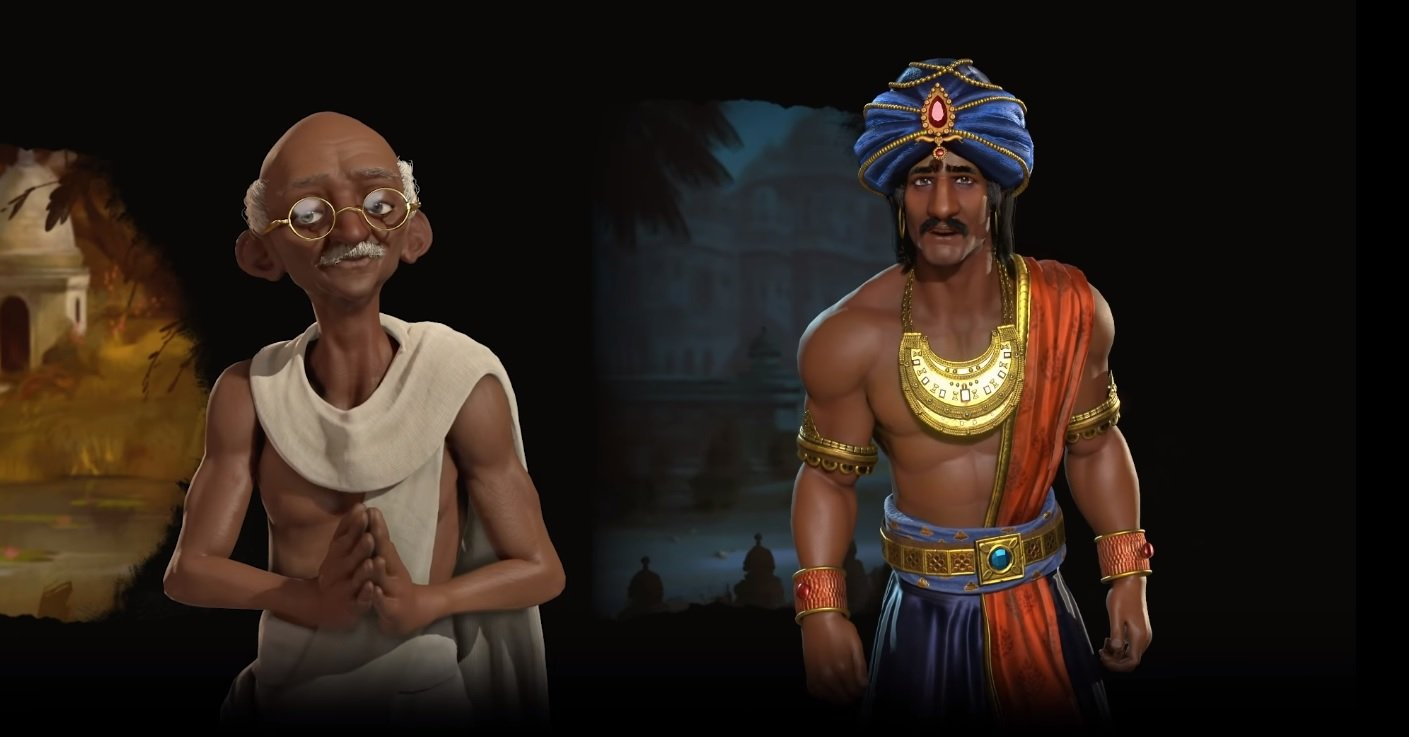 Civilization VI is getting a second leader for India, and he's a lot meaner than Gandhi screenshot