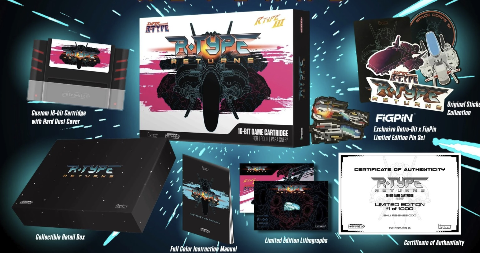 Super R-Type is back with an SNES reprint from Retro-bit screenshot