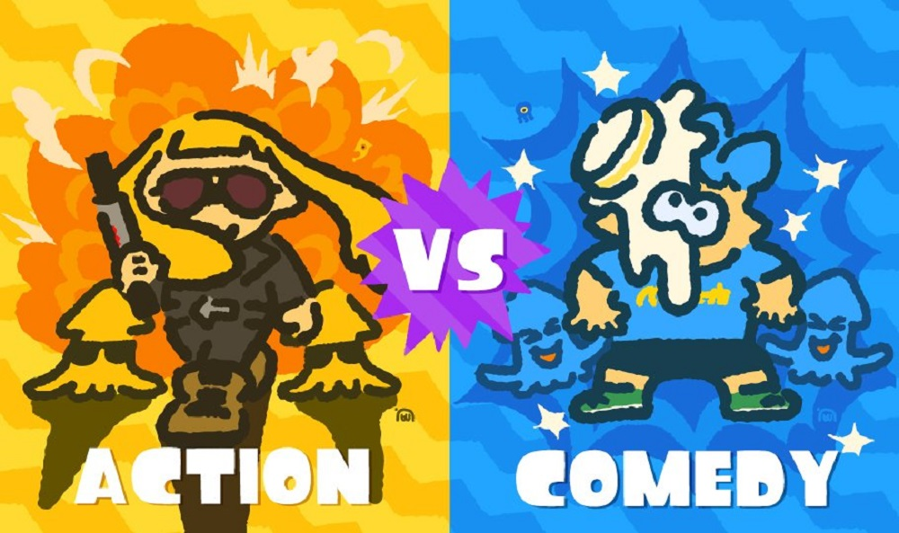 Kick off the year with Splatoon 2's hilariously action packed Splatfest screenshot