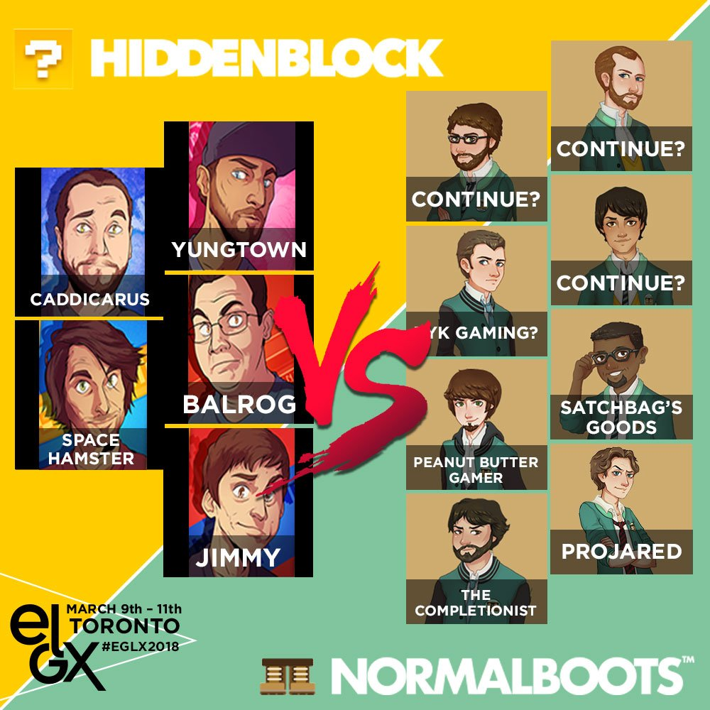 youtubers normalboots and hiddenblock to battle at eglx