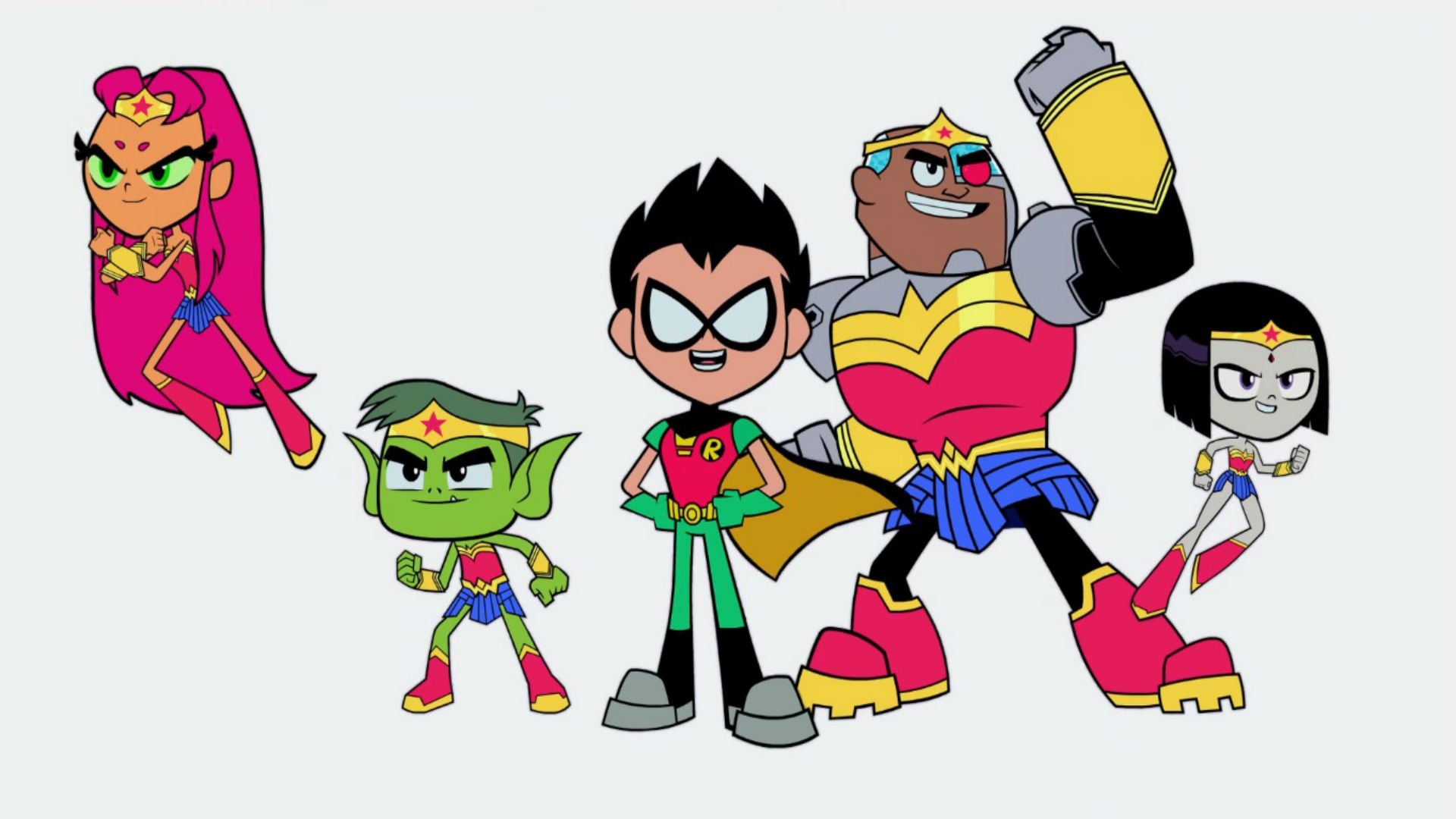 The Teen Titans are going to the movies in, uh, Teen Titans GO! To The Movies screenshot