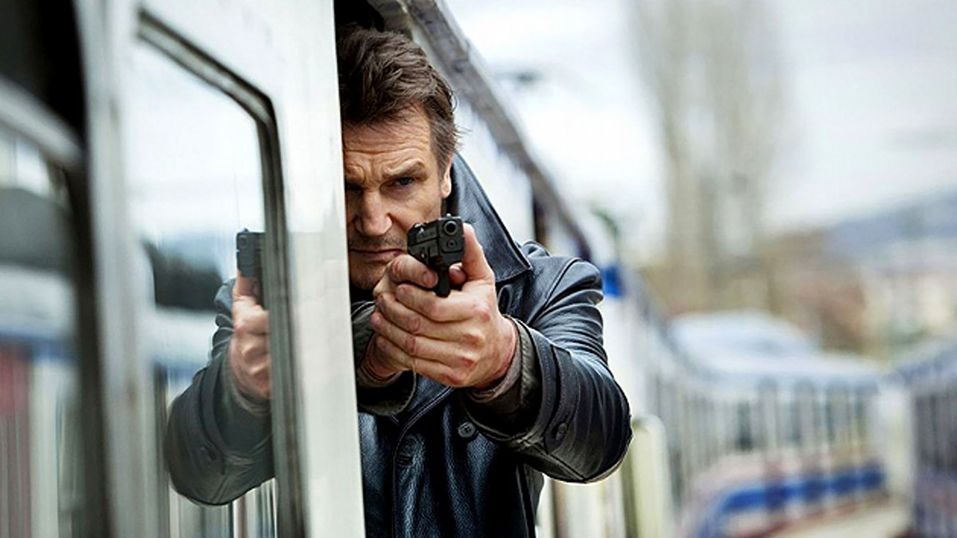 Liam Neeson takes the fight to the rails in