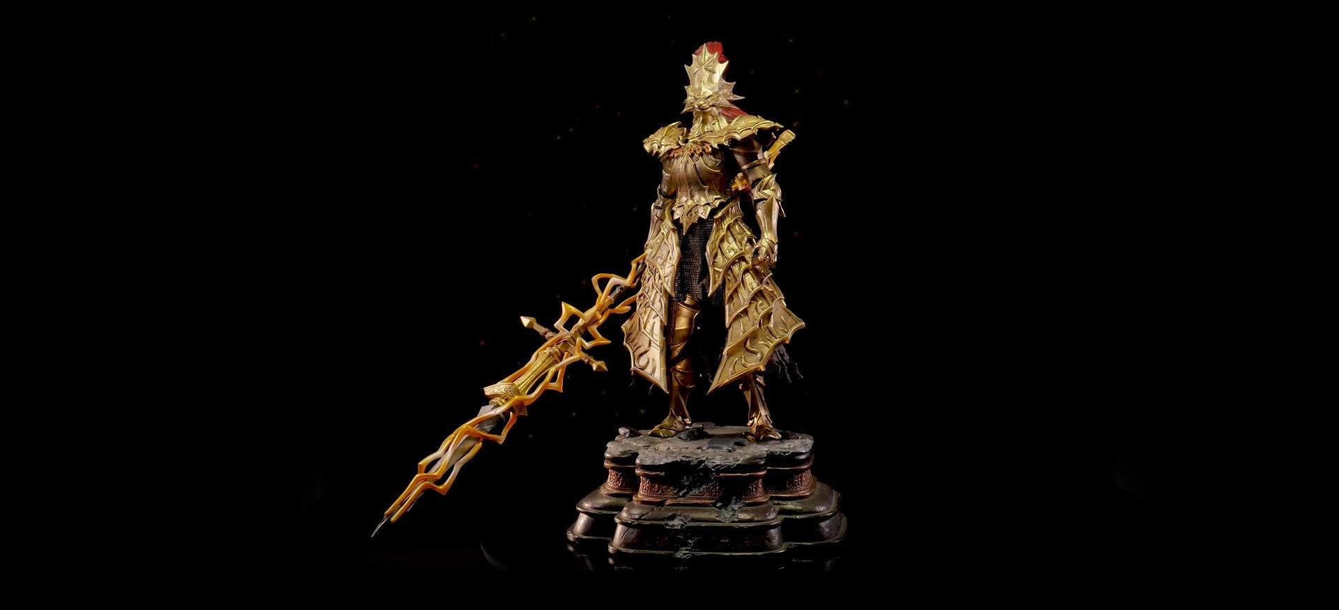 Dark Souls' Dragon Slayer Ornstein makes for an imposing statue screenshot