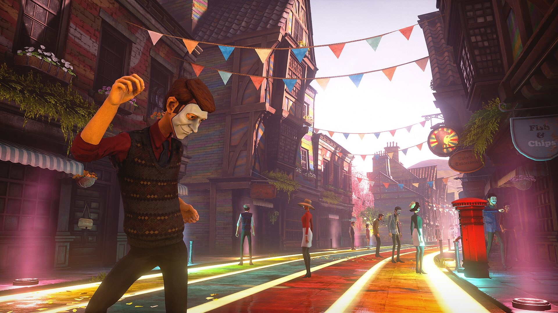 We Happy Few hit with a minor delay so the developer can rearrange part of the story screenshot