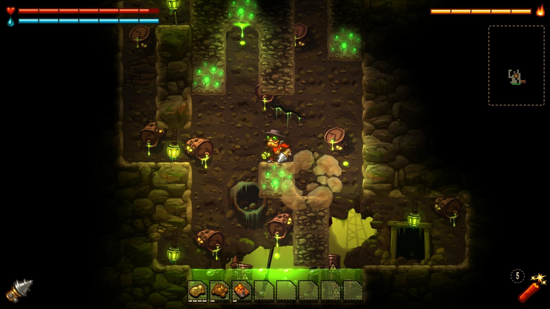 Nintendo Download: SteamWorld Dig screenshot