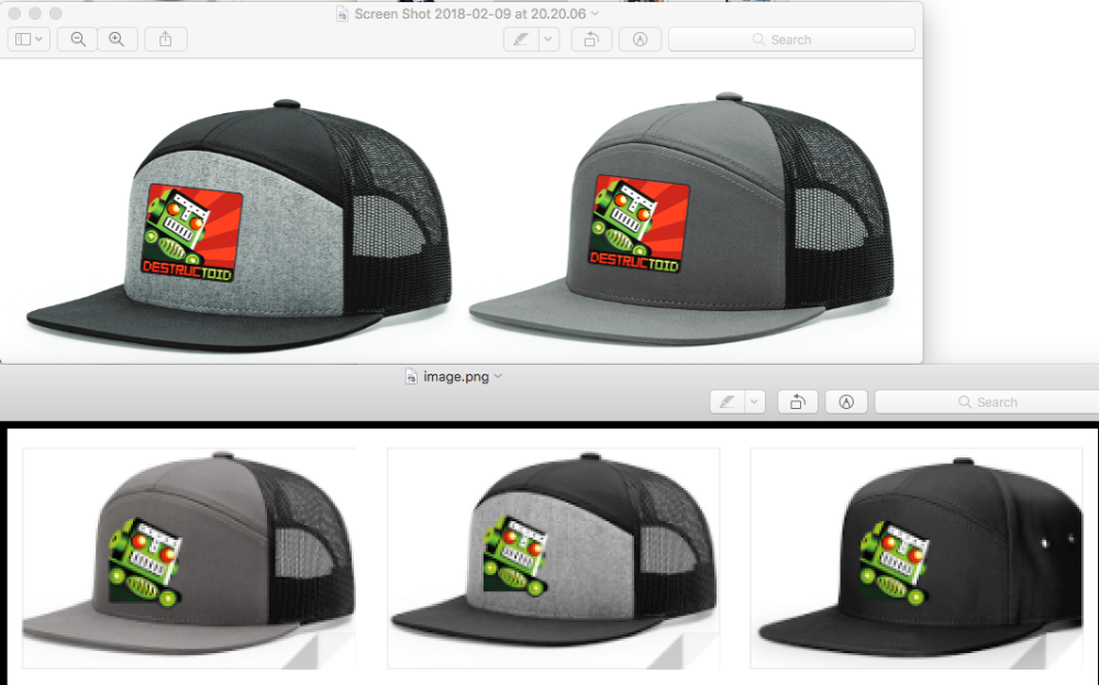 We're making some hats: Which one should we make?   screenshot